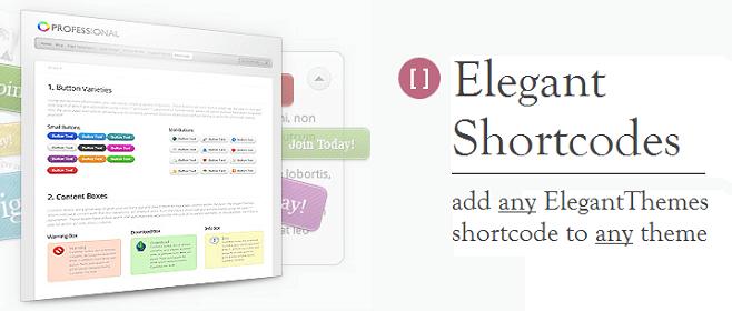 elegant themes shortcodes