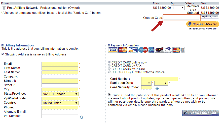 Post Affiliate Pro Discount code