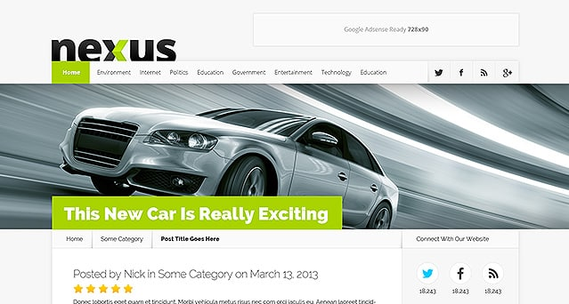 Nexus Theme Review 2017 – Download Most Popular Magazine-style WordPress Theme for Blogs